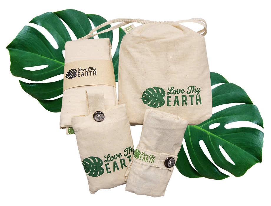 Love Thy Earth's Products on leaves