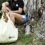 "Love Thy Earth's Australian made reusable eco bag range""Bundle Tote Large SH"" Leaf"