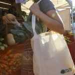 "Love Thy Earth's Australian made reusable eco bag range""Bundle Tote Small"" Leaf"