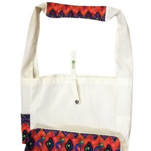 "Australian made reusable eco bag range ""Limited edition"": Kokopelli - Rainbow"